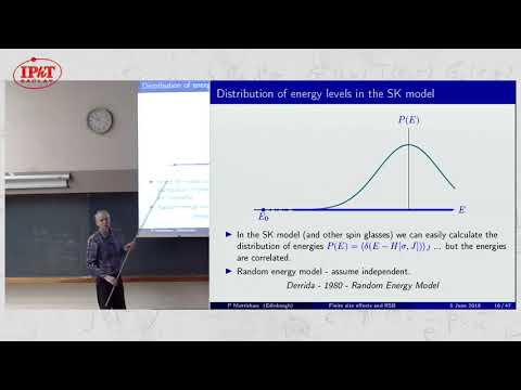 Peter Mottishaw: Finite size effects and replica symmetry breaking; ...