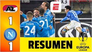 AZ Alkmaar 1-1 Napoli. El Chucky Lozano clasificará con un empate. GIGANTE, Ospina. | Europa League