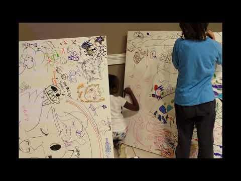 Kids Canvas Art, Deerfield Music & Arts Festival - Plano 2016