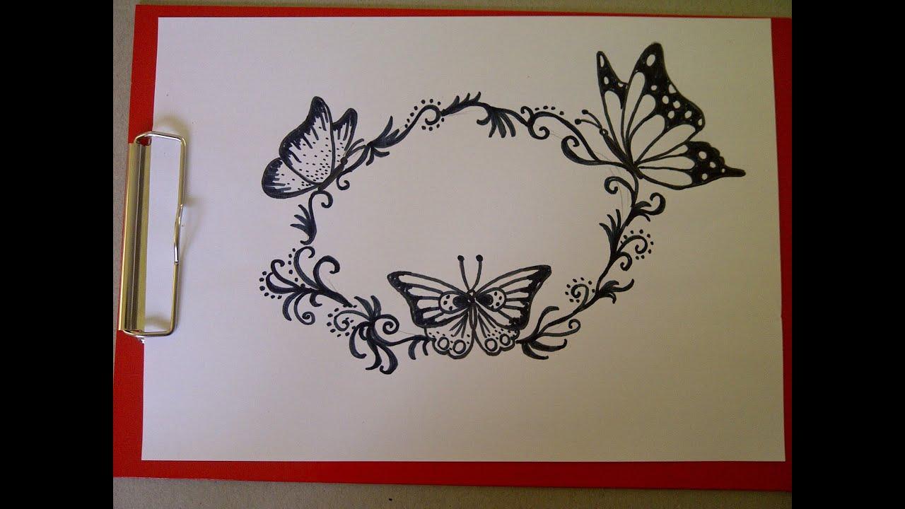 Dibuja una postal Cmo dibujar una mariposa Como hacer un dibujo