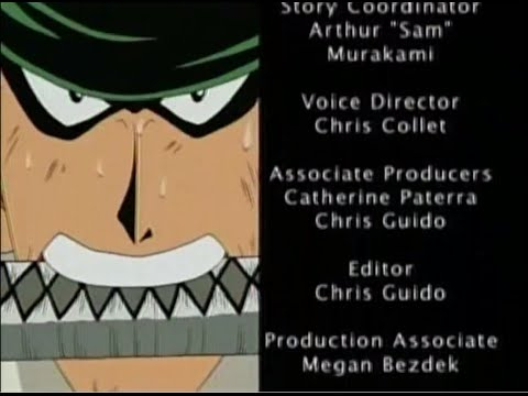 One Piece - 4Kids English Dub Closing Credits (TV Recorded Versions Compilation)