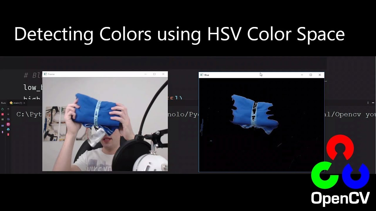 Detecting colors (Hsv Color Space) - Opencv with Python