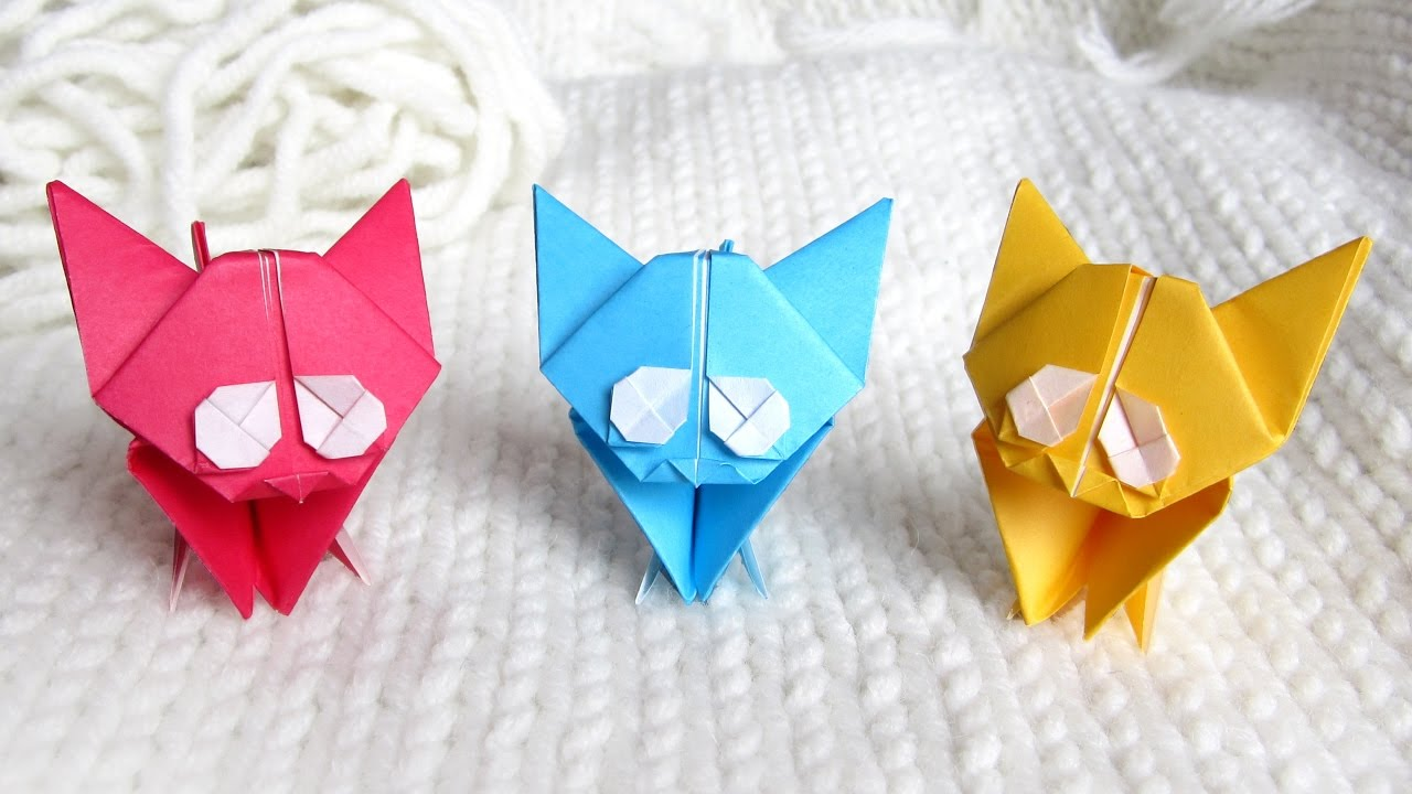 How to Make an Easy Origami Cat - Fun Crafts Kids | 720x1280