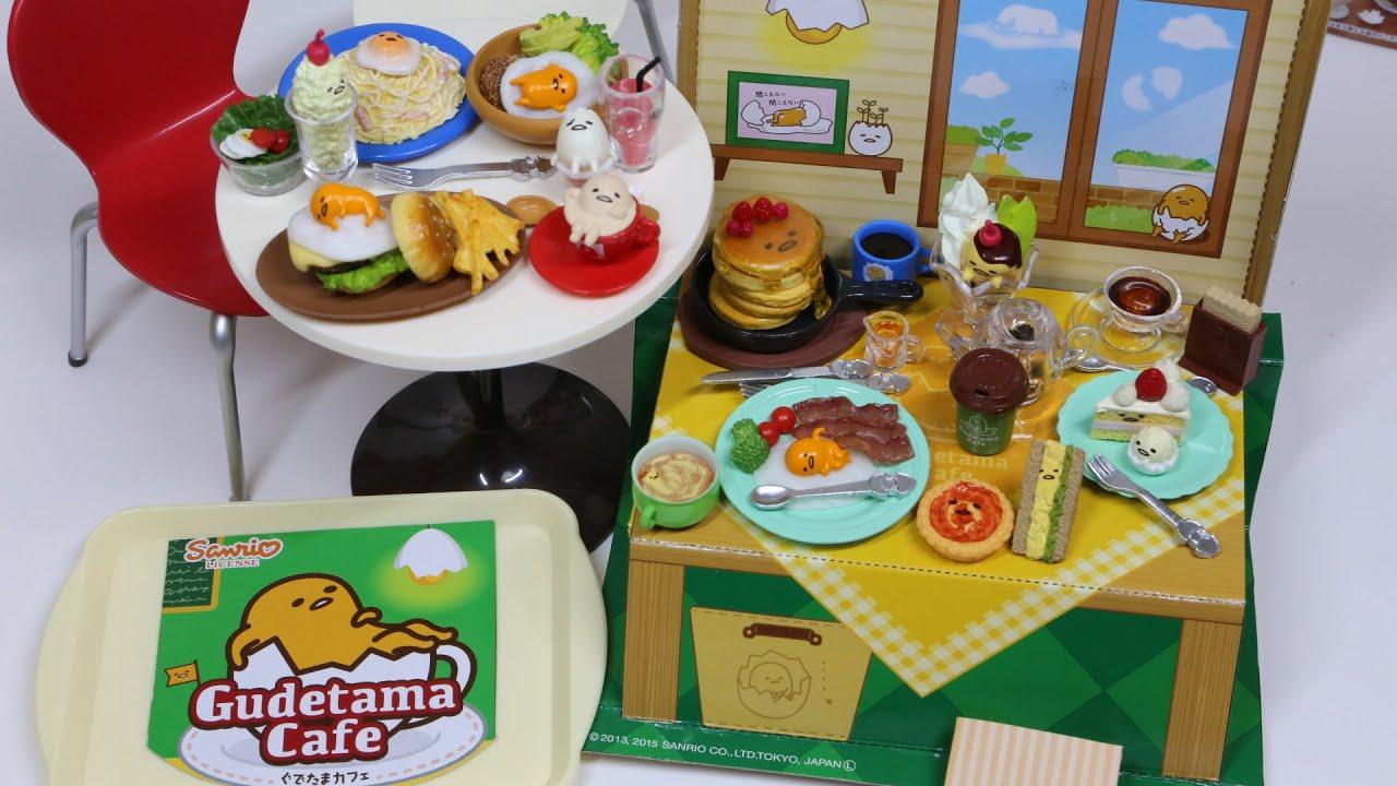 Re-ment Gudetama Cafe Egg Dishes Miniature Full Set BOX Set of 8