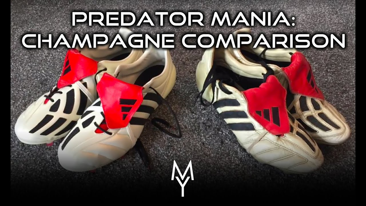 badb405d580a ADIDAS PREDATOR MANIA 2017 REMAKE   OG COMPARISON - ON FEET REVIEW AND  UNBOXING - CHAMPAGNE PACK