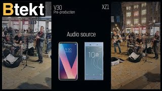 LG V30 vs Sony Xperia XZ1 day and night video sample