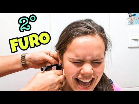 FIZ MEU 2º FURO NA ORELHA! DOEU? (Second ear  Piercing)