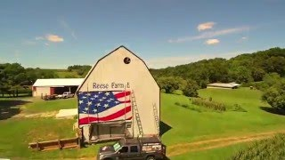 Barns From Above; Watertown, Ohio American Flag