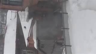 Пожар около школы № 1 Чистополя.