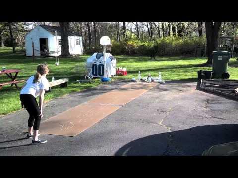 Backyard Driveway Bowling Pins Skippack Collegeville Creamery PA