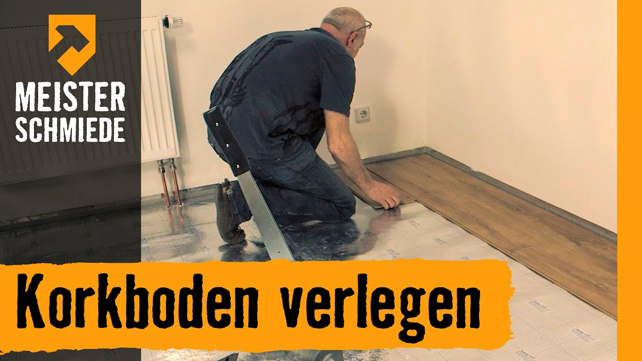 korkboden verlegen hornbach meisterschmiede youtube. Black Bedroom Furniture Sets. Home Design Ideas