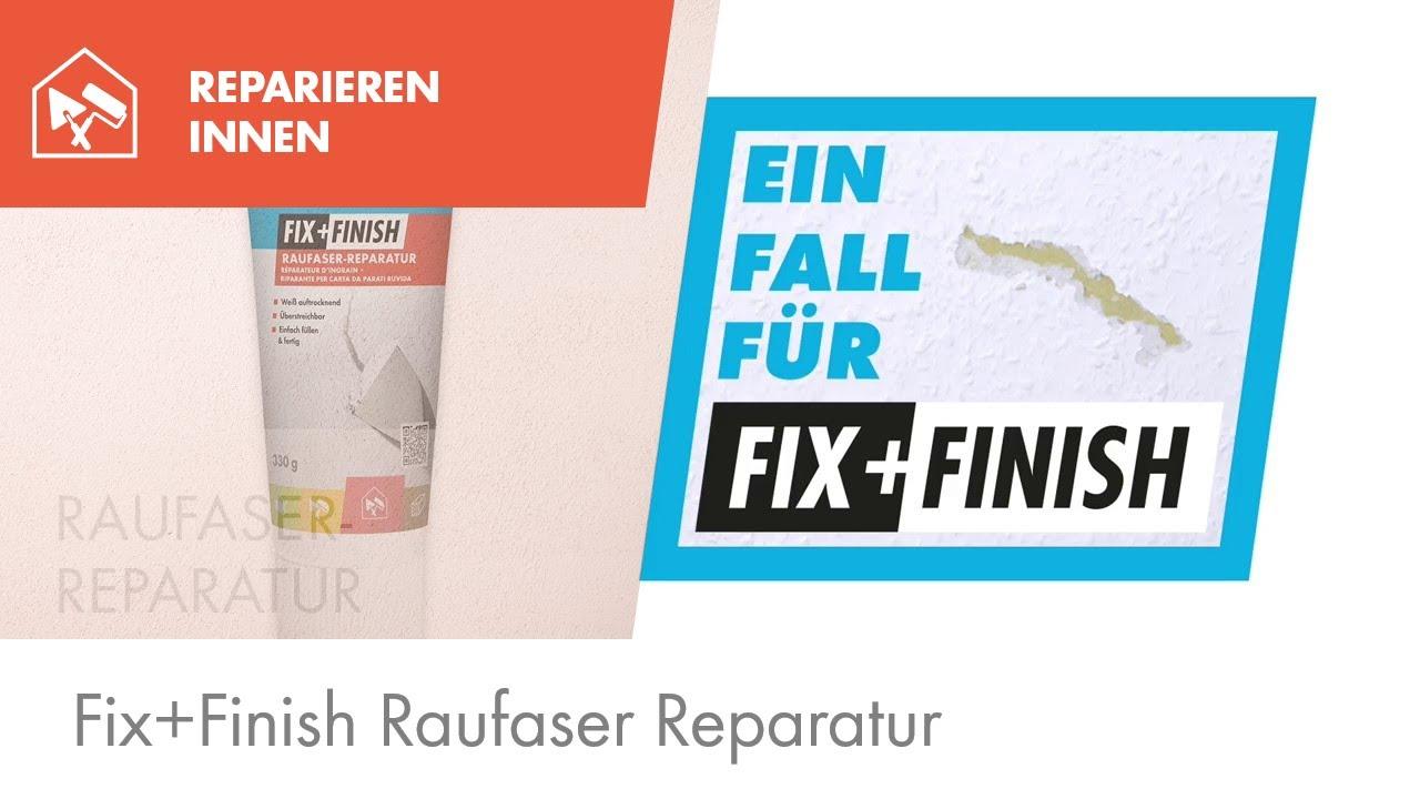 knauf fix+finish raufaser reparatur