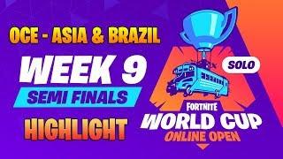 Highlight Winner Fortnite Worldcup Qualifiers - Week 9 Semi Finals - OCE - Brazil & Asia