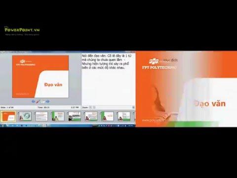 [slide powerpoint] Hướng dẫn Kỹ thuật trình chiếu 2 màn hình