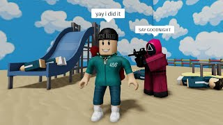 ROBLOX Squid Game FUNNY MOMENTS (TEAMMATE)