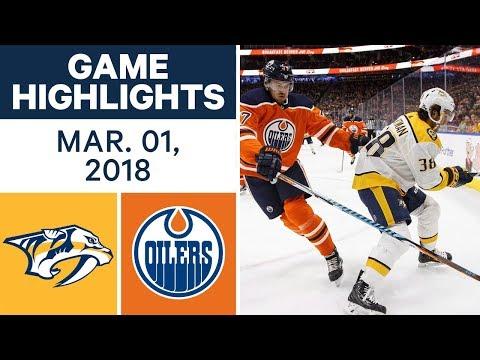 NHL Game Highlights | Predators vs. Oilers - Mar. 01, 2018