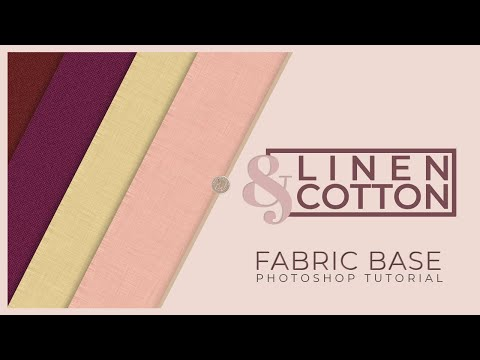 Fabric Texture Photoshop Tutorial: Linen & Cotton