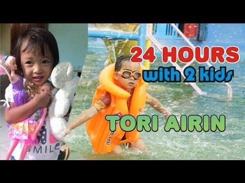 24 Hours With 2 Kids on A Fun Day - Liburan Bersama Keluarga Kegiatan Bermain dan Makan Tori Airin