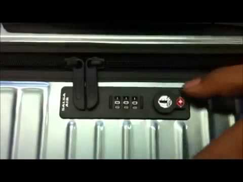 how to open suitcase lock
