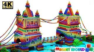 DIY - How T๐ Build Tower Bridge Aquarium From Magnetic Balls (Satisfying) | Magnet World Series #212