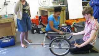 How to build a bike trailer - new steel tube design