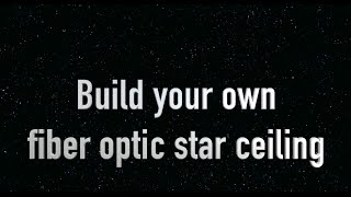 How to make a Star Ceiling or Fiber Optic Ceiling. DIY sky and star ceiling for kids bedroom
