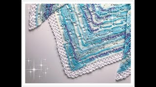 EINFACHES Schmetterlings Dreieckstuch häkeln / Butterfly Stitch Prayer Shawl