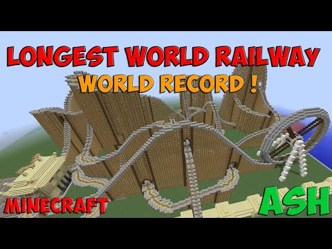Minecraft | Longest World Railway [World Record] (1:03:17)