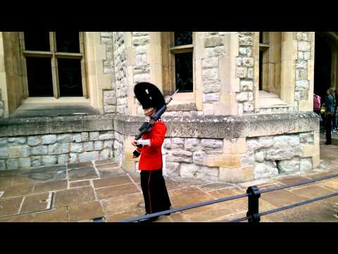Guards patrolling Jewel House, Tower of London