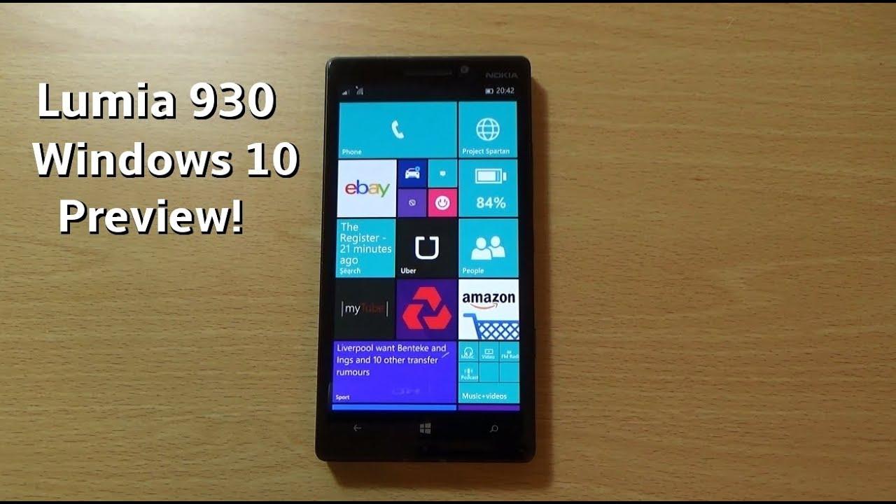 Nokia lumia 930 windows 10