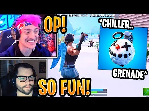 Streamers First Time Using *NEW* Chiller Grenade! - Fortnite Best and Funny Moments thumbnail