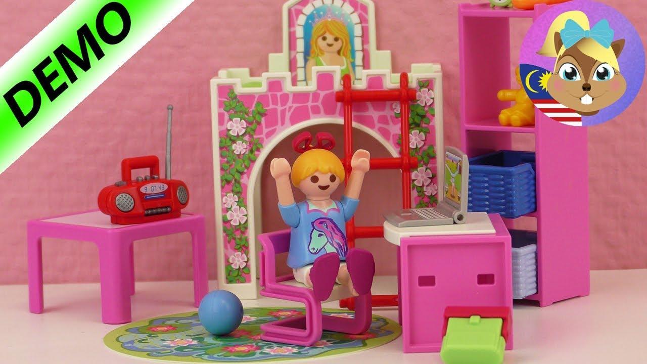 Bilik Kanak Playmobil Hannah Dapat Baharu Pasang Katil Sleeping Beauty Meja Tulis