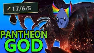 PANTHEON TOP GOD CARRY - League of Legends Commentary