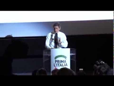 Alemanno - Intervento Prima l'Italia del 13 ottobre al Cinema Adriano