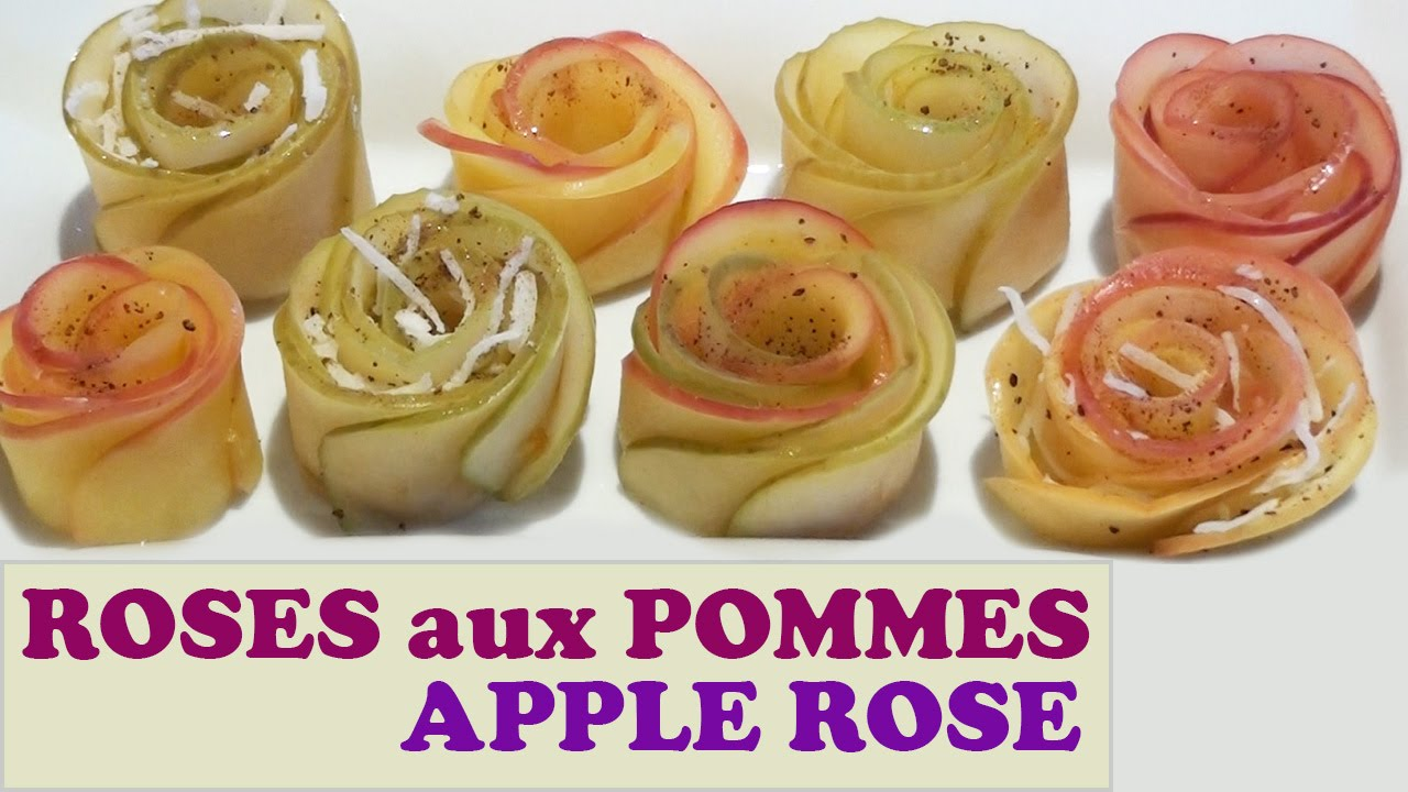 comment faire des roses avec des pommes roses aux pommes feuillet es youtube. Black Bedroom Furniture Sets. Home Design Ideas