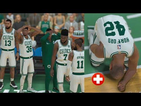Lebron Made Me Injure Him! Lakers vs. Celtics   NBA 2K19 MyCareer Ep. 24