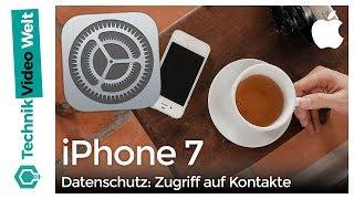 iPhone 7 Datenschutz Zugriff auf Kontakte