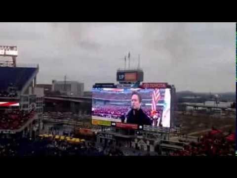 2013 Star-Spangled Banner   Music-City Bowl
