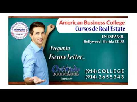 Preguntas y Respuestas de Real Estate - Escrow Letter...