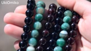 Натуральные камни с сайта Алиэкспресс(Не могу со 100% уверенностью сказать, что они натуральные. Но смотрятся хорошо )) 1. Черный агат http://www.aliexpress.com/it..., 2014-06-24T17:01:41.000Z)