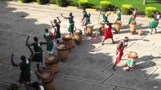 Abatimbo Drummers from Burundi performing at AICC Convention Center in Arusha, Tanzania - 2011-07-01