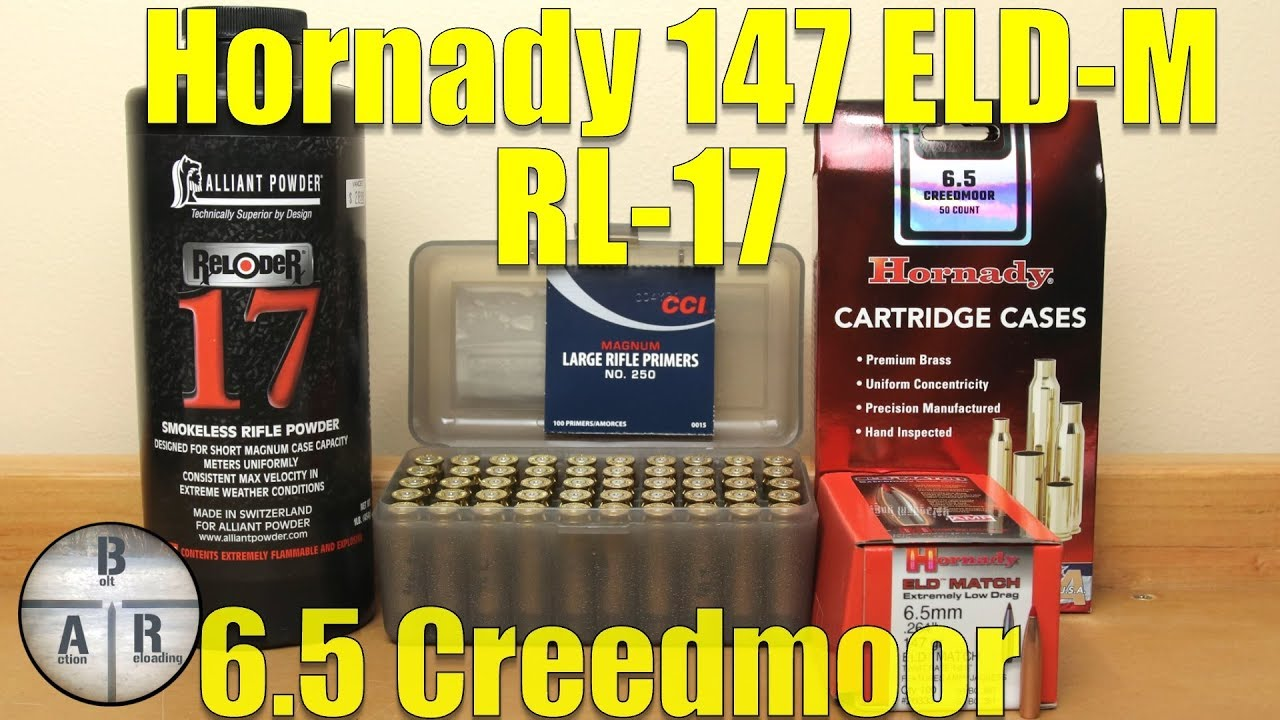 Hornady 147 gr ELD-M with Alliant Reloder 17 - 6 5 Creedmoor Ruger  Precision Rifle Load Test