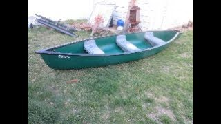 14 Foot Field and Stream scout square back Canoe unboxing