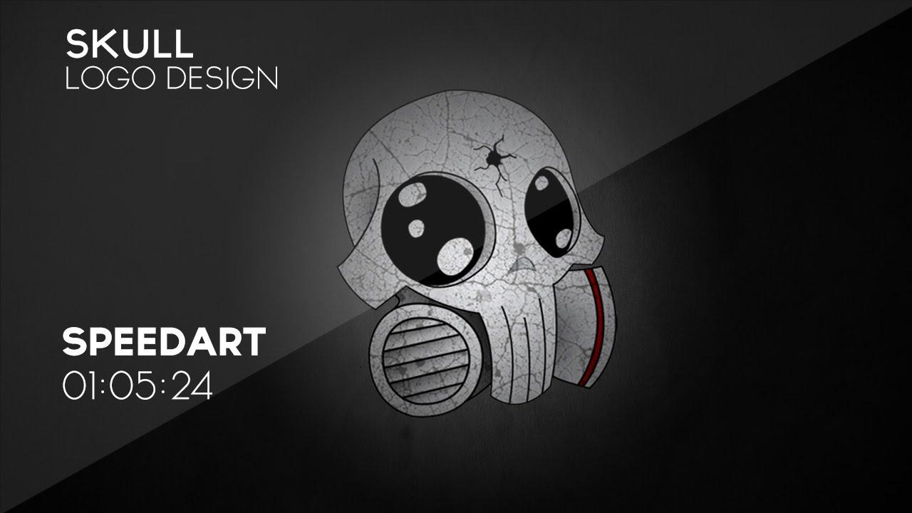 cryston� designs speedart quotskullquot logo design