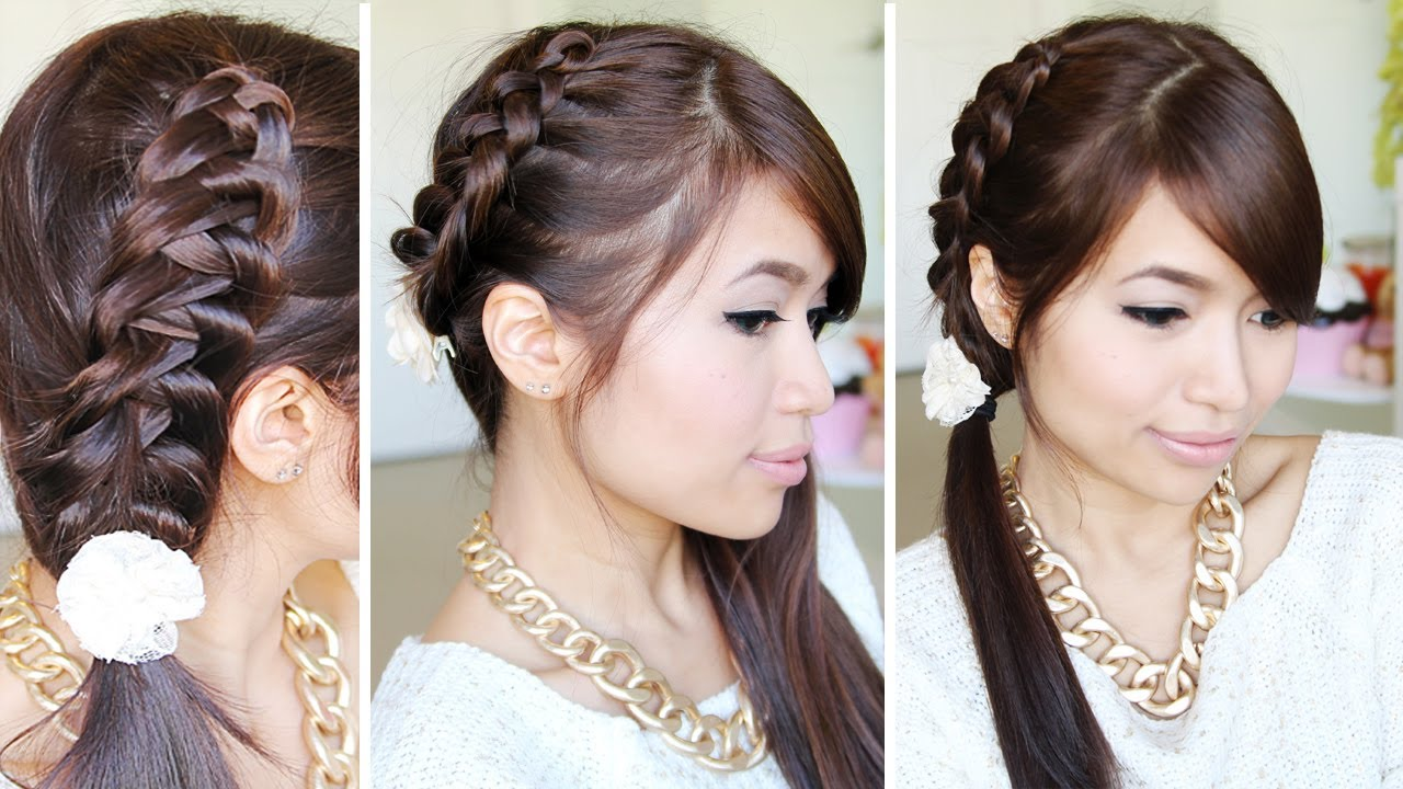 Different Ponytail Styles For Medium Hair Stunning Crochet Braid Ponytail Hairstyle For Medium Long Hair Tutorial .