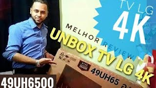 SMART TV LG 4K 49UH6500 - UNBOXING REVIEW