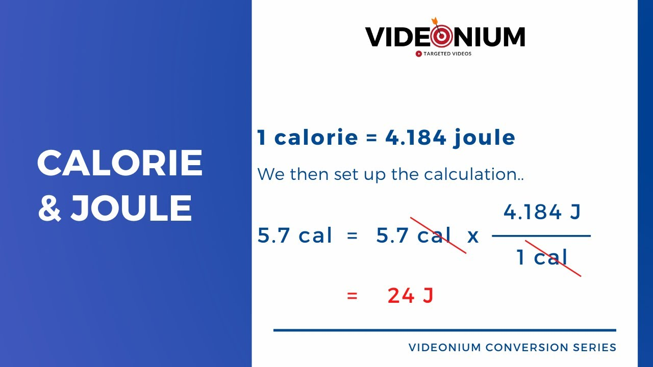 How To Convert Calories (cal) Into Joules (J) - Factor..