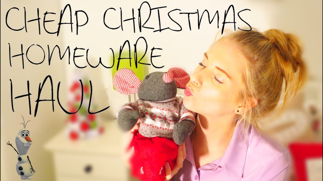 Cheap christmas homeware haul 2014 fabuloushannah youtube for Cheap homeware
