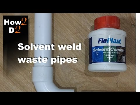 Solvent weld waste pipe system. How to glue waste pipes . flo plast