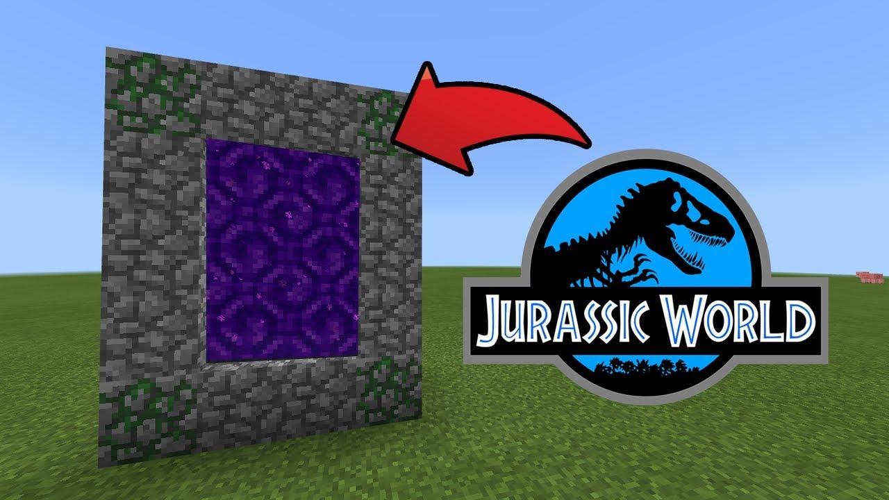 jurassic world minecraft pe